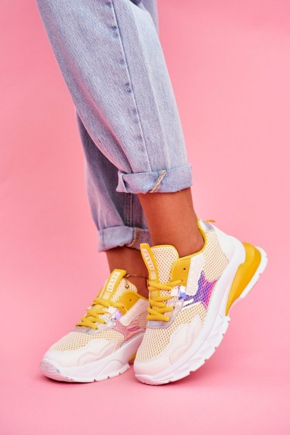 Dámske tenisky farba žltá kód obuvi LA82 YELLOW