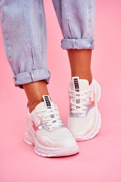 Dámske tenisky farba biela kód obuvi LA82 WHITE