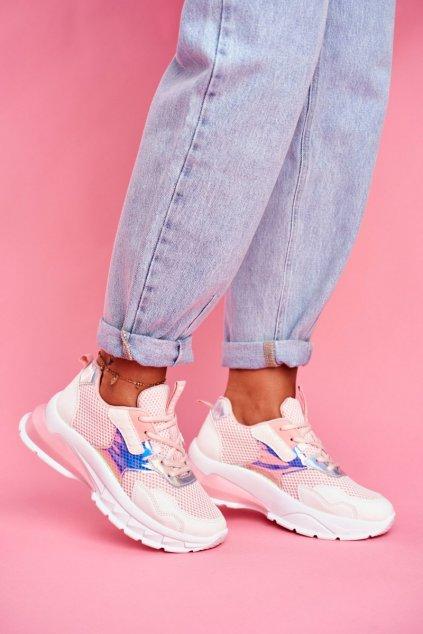 Dámske tenisky farba ružová kód obuvi LA82 PINK
