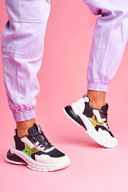 Dámske tenisky farba čierna kód obuvi LA82 BLK