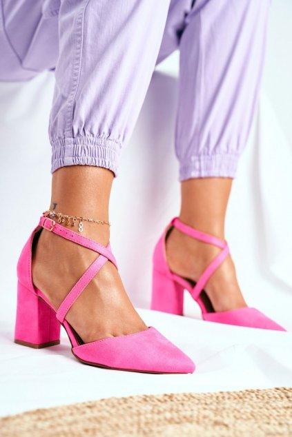 Dámske lodičky farba ružová kód obuvi NC900 NEON PINK