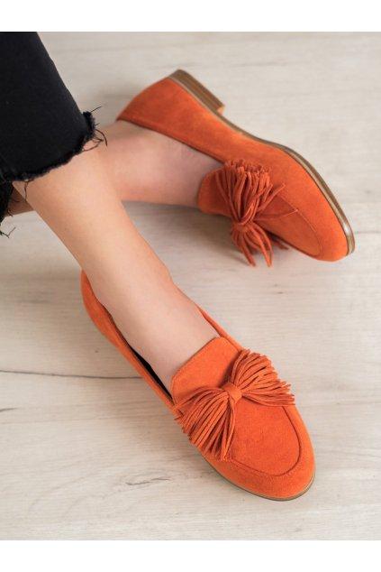 Oranžové dámske balerínky Seastar kod T357OR