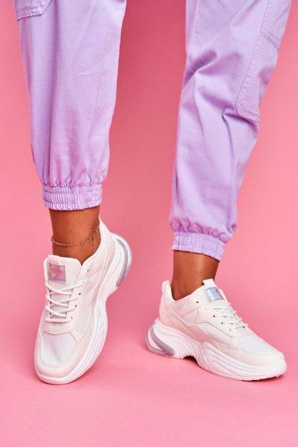 Dámske tenisky farba biela kód obuvi BL205 WHITE