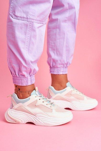 Dámske tenisky farba biela kód obuvi BL205 BEIGE