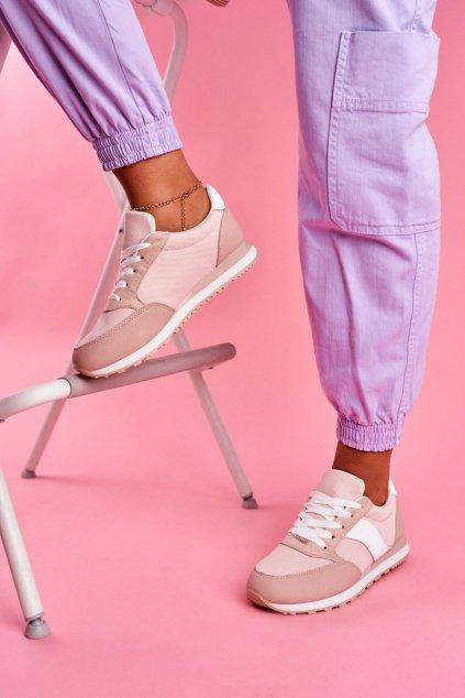 Dámske tenisky farba ružová kód obuvi BL189 PINK