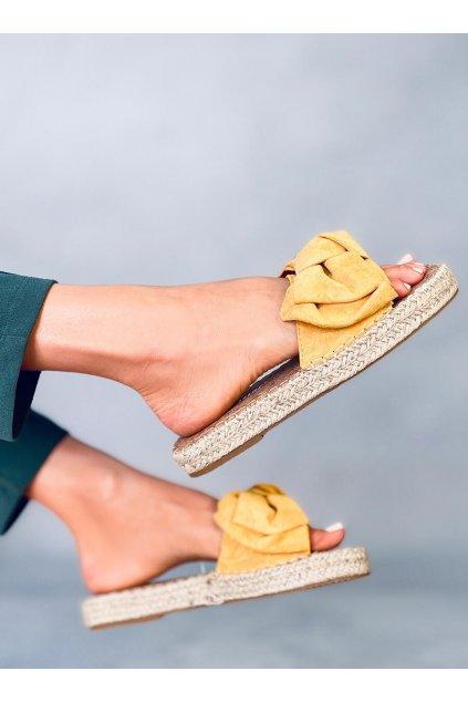 Damske šľapky žlté JH115P