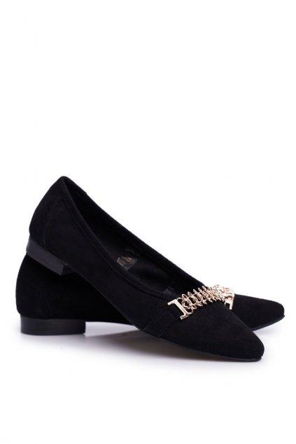 Dámske balerínky farba čierna kód obuvi 2466 CZARNY/Z
