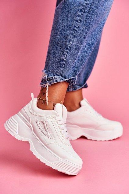 Dámska športová obuv s hrubou Podrážkou Ružové Louder