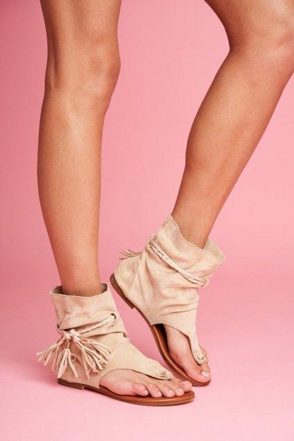 Dámske Sandále Béžové SL1011 Madrit