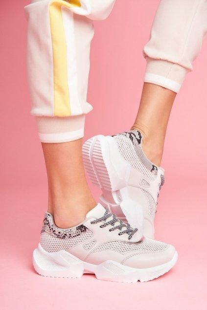 Dámske tenisky farba sivá kód obuvi BL192 GREY