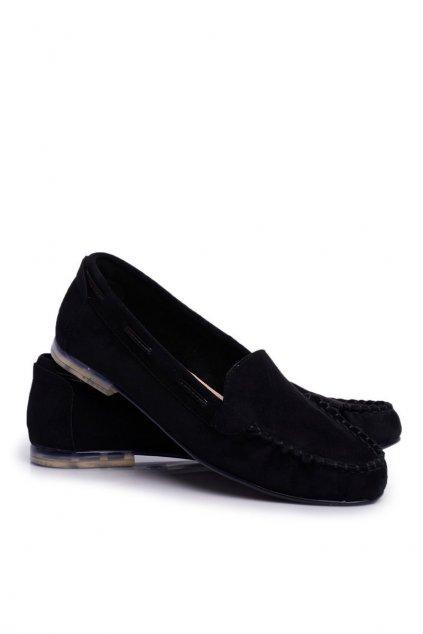 Dámske mokasíny farba čierna kód obuvi MK722 BLK MIC
