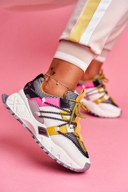 Dámske tenisky farba žltá kód obuvi LA91 WHITE