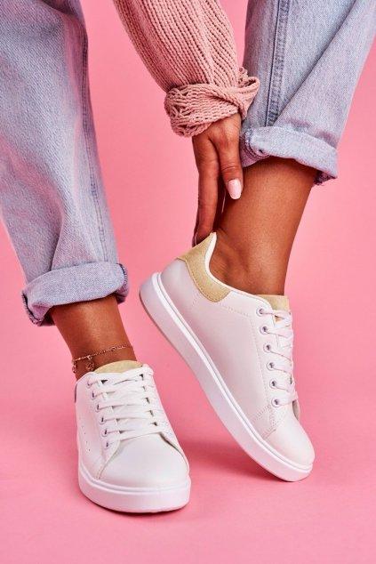 Dámska športová obuv biele s Béžovou Patou Milly
