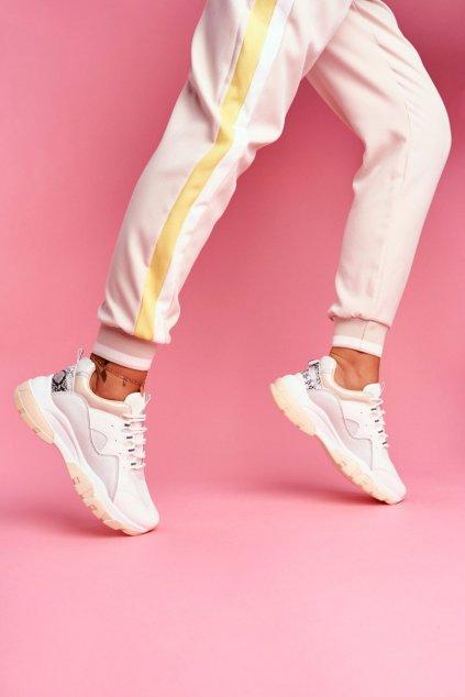 Dámske tenisky farba hnedá kód obuvi 9797 BEIGE