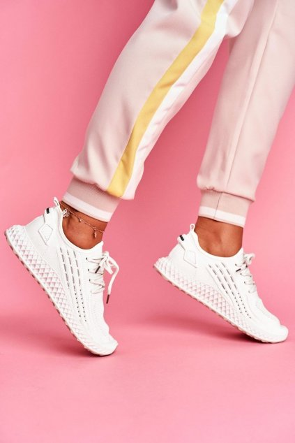 Dámske tenisky farba biela kód obuvi JH-10 WHITE