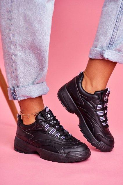 Dámske tenisky farba čierna kód obuvi 20SP30-1679 BLK