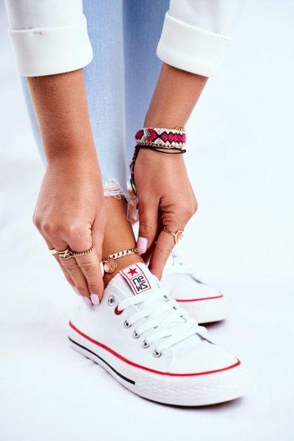 Dámske tenisky farba biela kód obuvi 8SP30-4723 WHITE