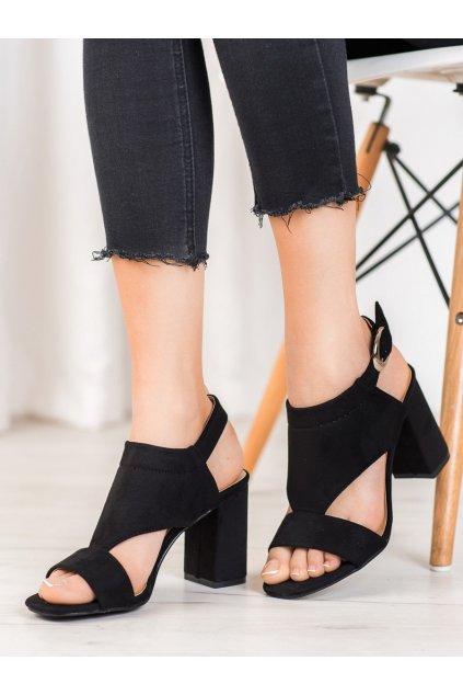 Čierne sandále na podpätku Vinceza kod YQE20-17053B