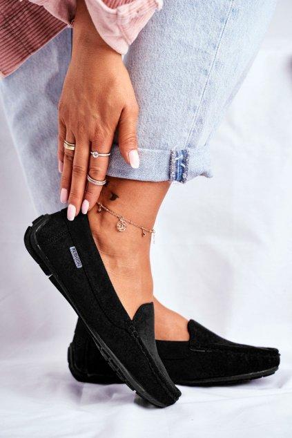 Dámske mokasíny farba čierna kód obuvi 20PB26-2190 BLK