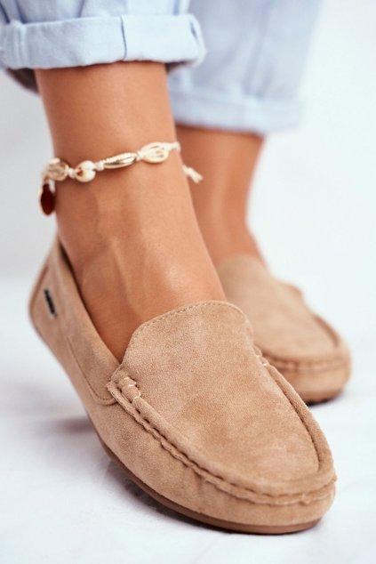 Dámske mokasíny farba hnedá kód obuvi 20PB26-2190 BEIGE