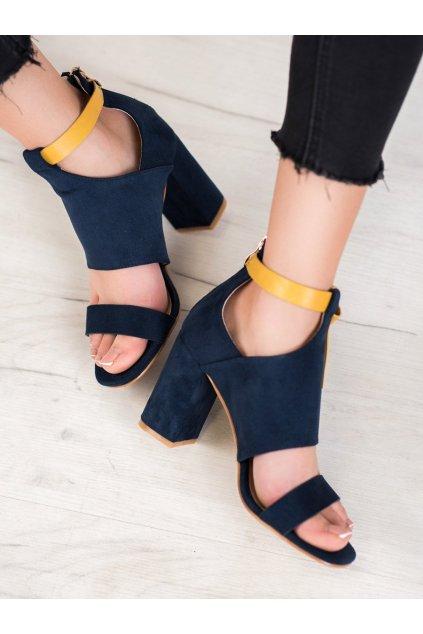 Modré sandále na hrubom podpätku Vinceza kod YQE20-17054N