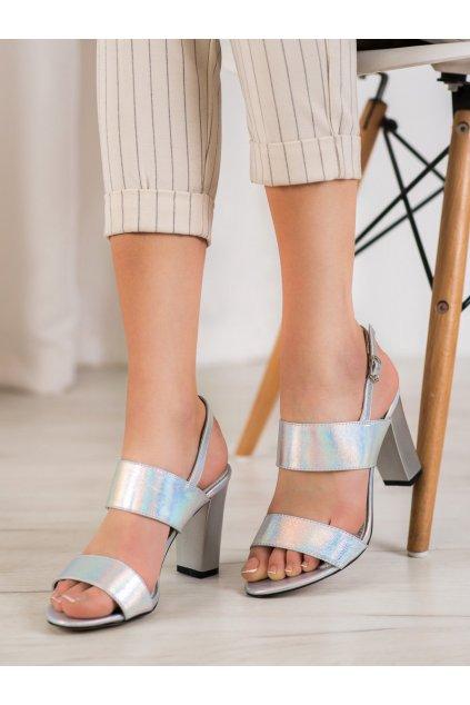 Sivé sandále na hrubom podpätku Goodin kod FL142C-S