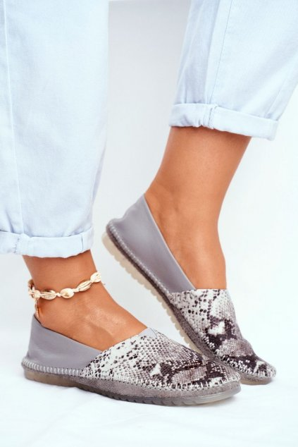 Dámske balerínky farba sivá kód obuvi 01930-66/00-0 GREY GAD