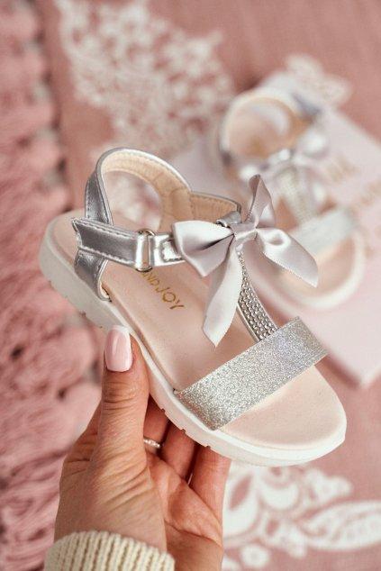 Detské sandále farba sivá kód obuvi 223-C SILVER
