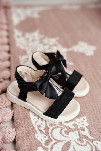 Detské sandále farba čierna kód obuvi 223-A BLK