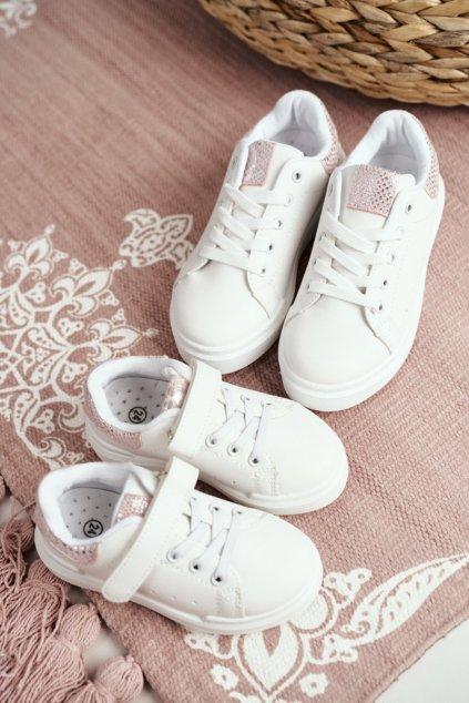 Dámske tenisky farba biela kód obuvi 883-A WHITE/PINK