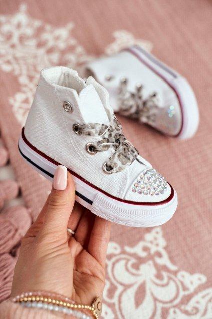 Detské tenisky farba biela kód obuvi 873 WHITE