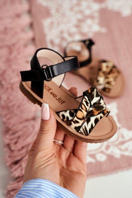 Detské sandále farba čierna kód obuvi 261 BLACK LEO