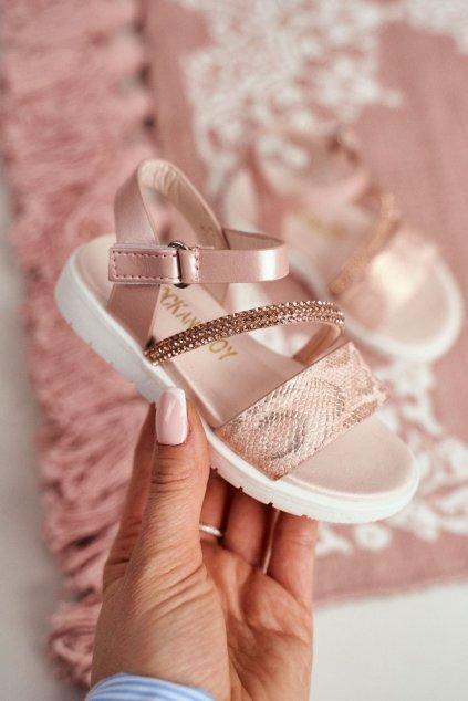 Detské sandále farba ružová kód obuvi 240-C CHAMP/PINK