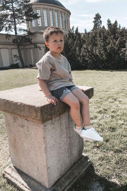 Detská športová Obuv na suchý zips biela Bilbo