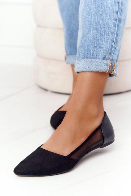 Dámske balerínky farba čierna kód obuvi 8BL71-2015 BLK