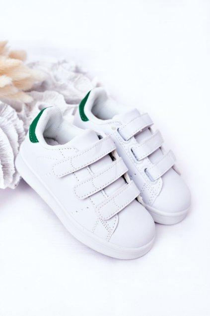 Detská športová Obuv na suchý zips biela Children's