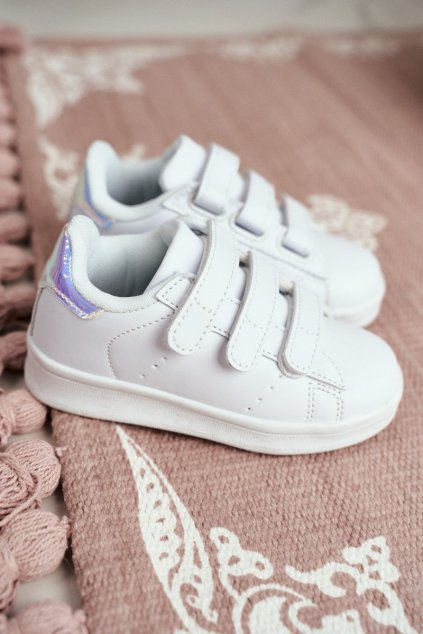Detské tenisky farba biela kód obuvi 902-B WHITE/SILVER