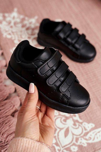 Detské tenisky farba čierna kód obuvi 902-A ALL BLK