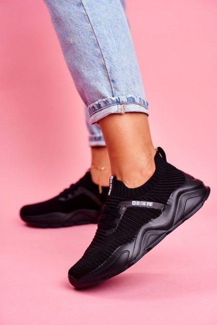 Dámske tenisky farba čierna kód obuvi FF274955 BLK