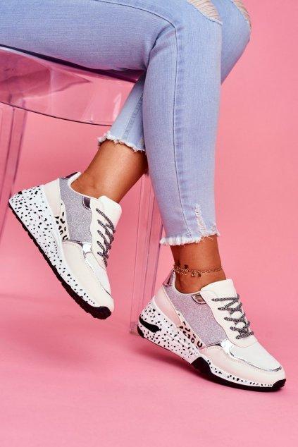 Dámska športová obuv s hrubou Podrážkou biela Nokien