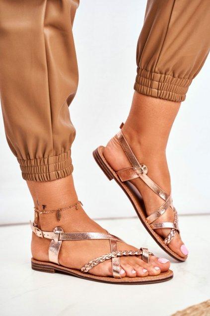 Dámske ružové Sandále zlaté Laurence
