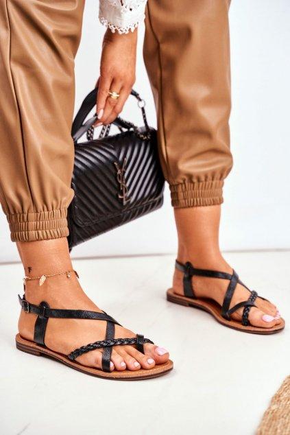 Dámske čierne Sandále Laurence
