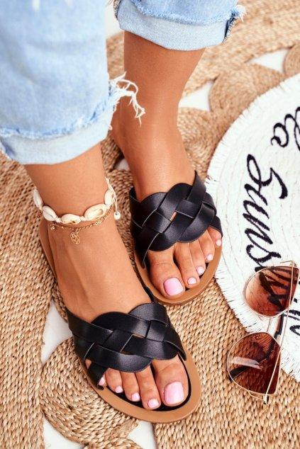 Dámske šľapky čierne Mariah