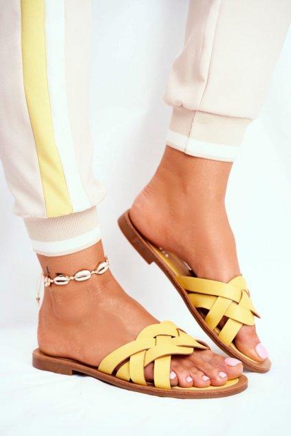 Dámske šľapky žlté Mariah