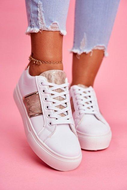 Dámska športová obuv biele zlato Going