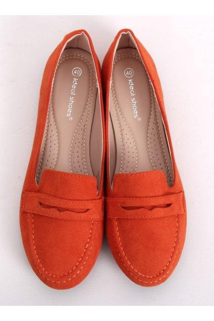 Dámske mokasíny oranžové 3900