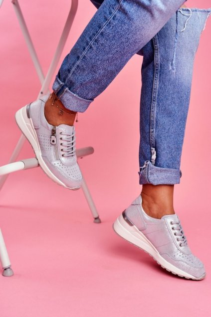 Dámske tenisky farba sivá kód obuvi FT20-8675 SILVER