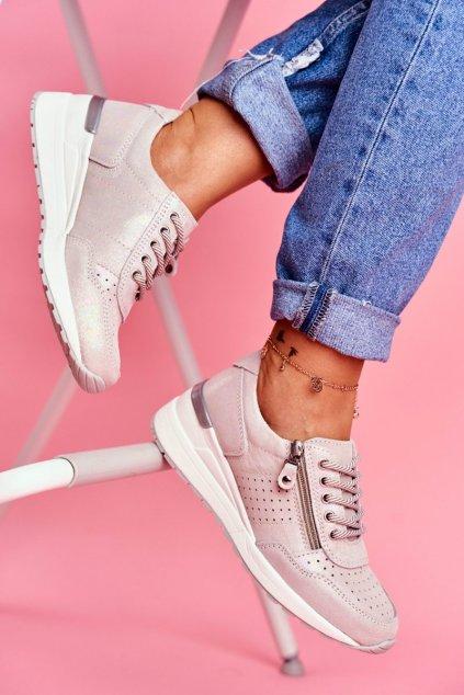 Dámska športová obuv  Kožené Béžové FT20-8675 Better Way