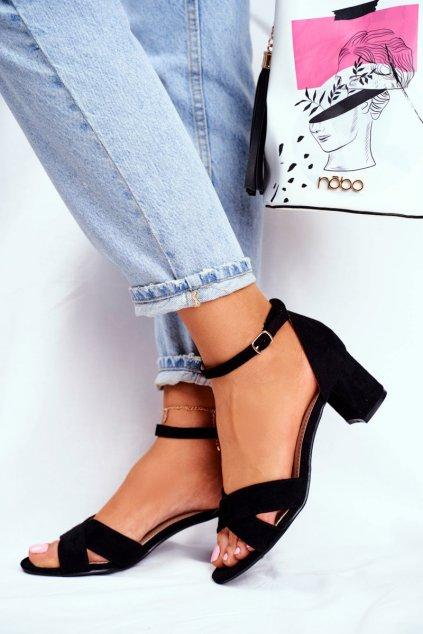 Dámske semišové Sandále čierne Nela