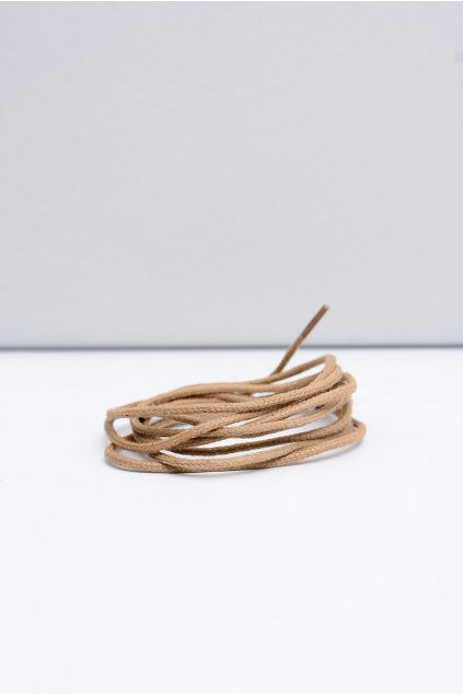 Šnúrky do topánok farba hnedá kód Cienki wosk beżowe